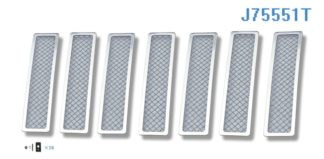 Mesh Grille 2008-2012 Jeep Liberty  Main Upper Chrome