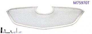 Mesh Grille 2014-2016 Mazda Mazda 3  Main Upper Chrome