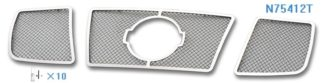 Mesh Grille 2004-2007 Nissan Titan  Main Upper Chrome With Logo Show