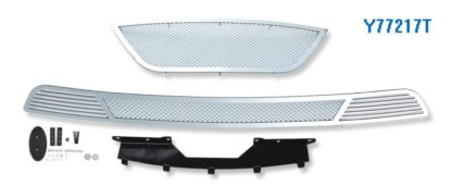 Mesh Grille 2009-2010 Hyundai Sonata  Main Upper + Lower Bumper Chrome