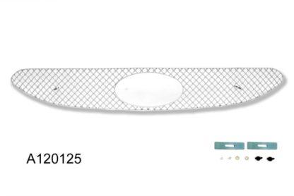 X Mesh Grille 2012-2013 Hyundai Accent  Main Upper Chrome