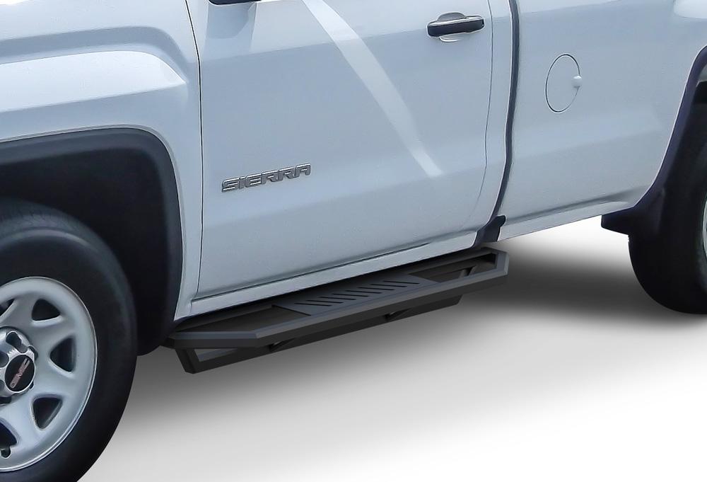 Chevy Silverado Side Steps >> Truck Armor Side Steps 2 Inch Black Square Tube Style 2007 2017 Chevy Silverado 1500 Regular Cab Incl Diesel Models With Def Tanks