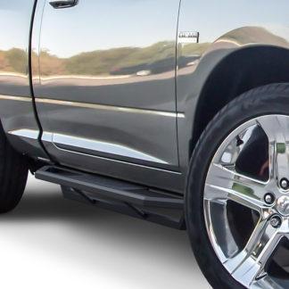 Truck Side Armor - 2 Inch Black Square Tube Style - 2010-2017 Dodge Ram 4500