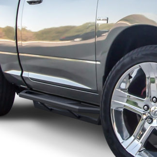 Truck Side Armor - 2 Inch Black Square Tube Style - 2009-2017 Dodge Ram 1500