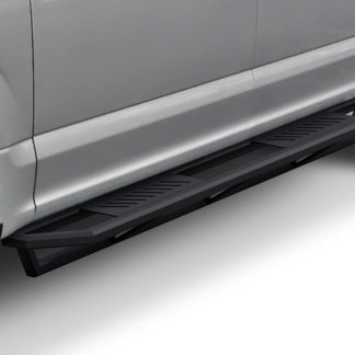 Truck Side Armor - 2 Inch Black Square Tube Style - 2017-2018 Ford F-350