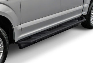 Truck Side Armor - 2 Inch Black Square Tube Style - 2015-2017 Ford F-150