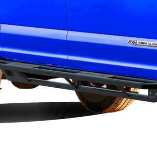 Truck Side Armor - 2 Inch Black Square Tube Style - 1999-2016 Ford F-550 SD