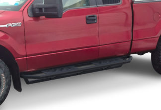Truck Side Armor - 2 Inch Black Square Tube Style - 1999-2016 Ford F-450 SD