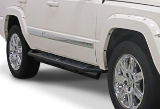 Jeep Side Armor - 2 Inch Black Square Tube Style - 2005-2010 Jeep Grand Cherokee