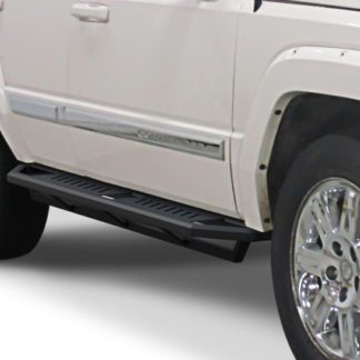 Jeep Side Armor - 2 Inch Black Square Tube Style - 2005-2010 Jeep Commander