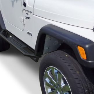 Jeep Side Armor – 2 Inch Black Square Tube Style – 1987-2006 Jeep Wrangler