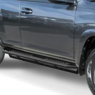 Truck Side Armor - 2 Inch Black Square Tube Style - 2010-2017 Toyota 4 Runner