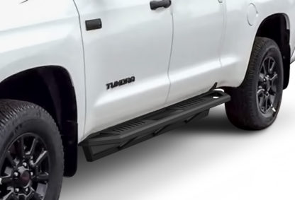 Truck Side Armor - 2 Inch Black Square Tube Style - 2007-2017 Toyota Tundra