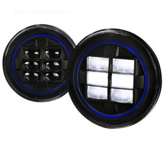 Universal Universal Universal Combo: 2x 7 Inch Round Projector HeadLight - Black (Blue)