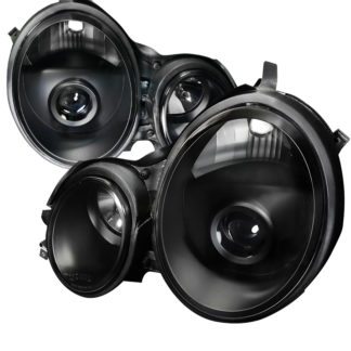 96-99 Mercedes E-Class E CLASS Projector HeadLight Black Housing