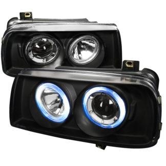 93-98 Volkswagen Jetta Projector HeadLights Black