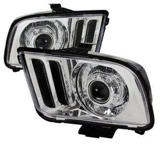 05-09 Ford Mustang RETRO Projector HeadLight - Chrome