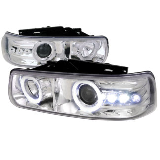 00-06 Chevrolet Tahoe Projector HeadLight Chrome Housing