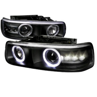 00-06 Chevrolet Tahoe Projector HeadLight Black Housing