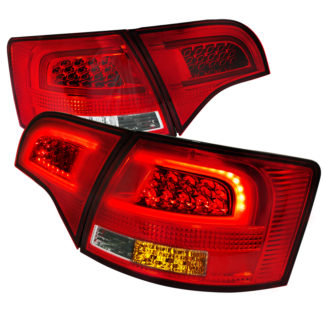 05-08 Audi A4 Led Taillights Red Clear Wagon Only