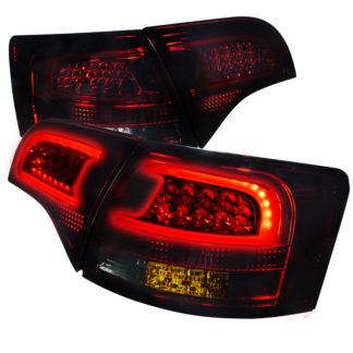 05-08 Audi A4 Led Taillights Red Smoke Wagon Only