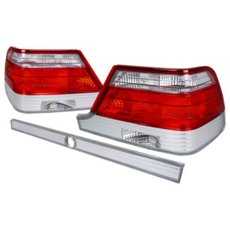 95-99 Mercedes W140 Tail Light Red Clear