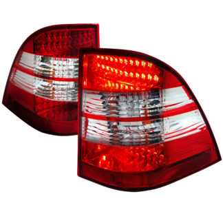 98-05 Mercedes ML Class Ml Class Led Tail Light Red Clear