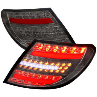 07-11 Mercedes C Class Led Tail Lights Smoke Housing