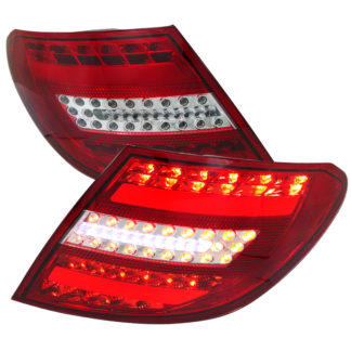 07-11 Mercedes C Class Led Tail Lights Chrome Housing