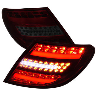 07-11 Mercedes C Class Led Tail Lights Red Smoke