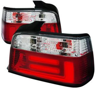 92-98 BMW 3 Series Tail Lights Red Clear Sedan Model