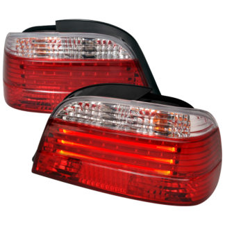 95-01 BMW 7 Series 7 Series Fiber Optic Led Tail Light Red Clear