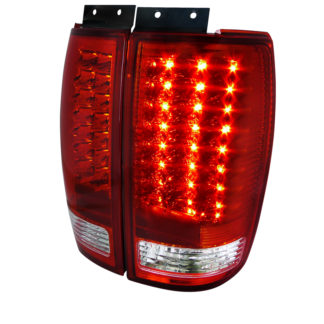 97-02 Ford Expedition Led Tail Lights Red