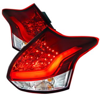 12-14 Ford Focus 5 Door Led Tail Lights Red