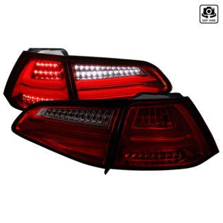 15-UP Volkswagen Golf MK7 Led Tail Lights Red Smoke
