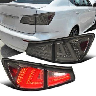 06-08 Lexus IS250 Led Tail Lights Smoked LT-IS25006GLED-TM