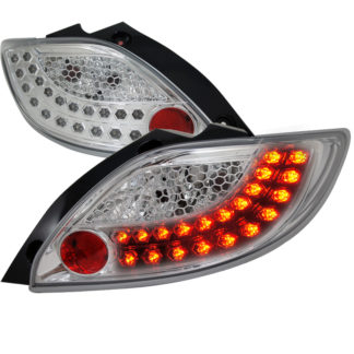 11-12 Mazda 2 Chrome Led Tail Lights