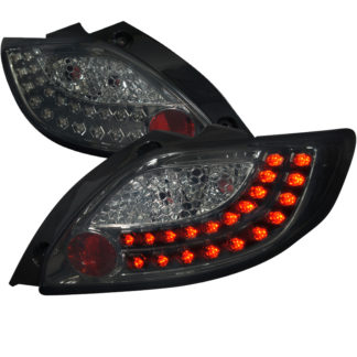 11-12 Mazda 2 Smoked Lens Led Tail Lights