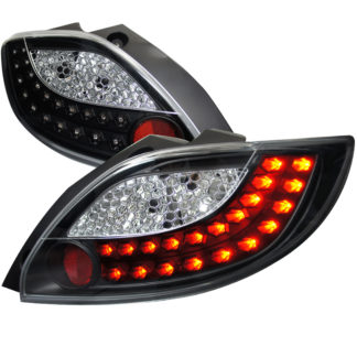 11-12 Mazda 2 Black Housing Led Tail Lights