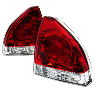 92-96 Honda Prelude Tail Lights Red Clear
