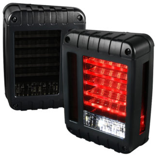 07-17 Jeep Wrangler Led Tail Lights - Smoke