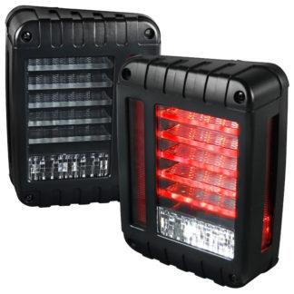 07-17 Jeep Wrangler Led Tail Lights - Black