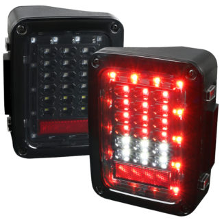 07-17 Jeep Wrangler Led Tail Lights - Black