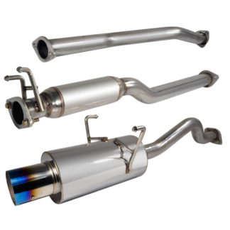 01-05 Honda Civic 2.5 Inch Inlet N1 Style Catback Exhaust With Burnt Tip 2 Or 4 Door