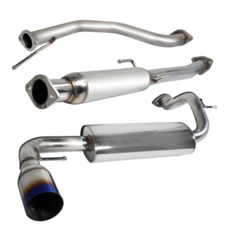 88-91 Honda Civic 2.5 Inch Inlet N1 Style Catback Exhaust With Burnt Tip