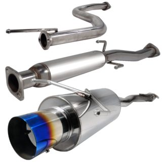 92-95 Honda Civic 2.5 Inch Inlet N1 Style Catback Exhaust With Burnt Tip
