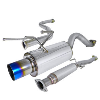 96-00 Honda Civic 2.5 Inch Inlet N1 Style Catback Exhaust With Burnt Tip