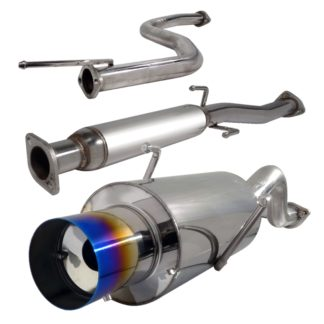 94-01 Acura Integra 2.5 Inch Inlet N1 Style Catback Exhaust With Burnt Tip Ls/rs Model