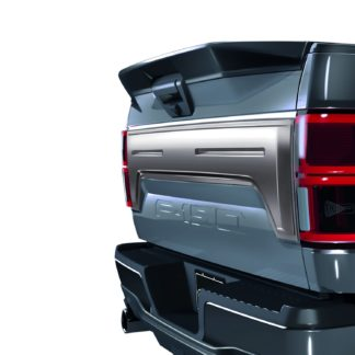 AIR DESIGN; 2018 UP FORD F150 TAILGATE APPLIQUE COVER SATIN CHROME