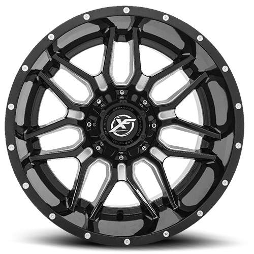 Xf Off Road Wheels Model Xf 222 Gloss Black Milled Are Rugged With